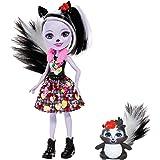 Enchantimals Sage Skunk y Caper, muñeca con mascota (Mattel FXM72)
