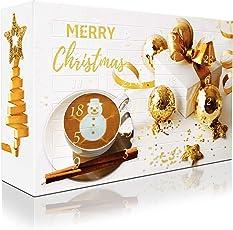 C&T Adventskalender mit hochwertigem Kaffee (Gold, Kaffeepads) 2018 - 24 Senseo-Kompatible Kaffeepads - Kaffee aus Aller Welt - Weihnachts-Kalender