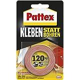 Pattex Lijmen in plaats van boren, plakband, extra sterk dubbelzijdig plakband, dubbel plakband voor montagewerkzaamheden bin