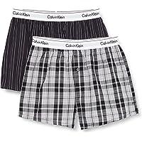 Calvin Klein Men's 2 Pack Slim Fit Boxers, Boxer Shorts