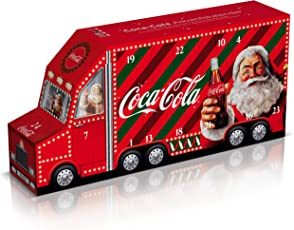Coca-Cola Adventskalender / 20 Dosen Coca-Cola, Coca-Cola Zero, Coca-Cola light taste und Fanta Orange / 4 weihnachtliche Überraschungen