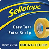 Sellotape Original Golden, Multi-Purpose Clear Tape for Household Objects, Clear Packing Tape for Sticking Envelopes or…