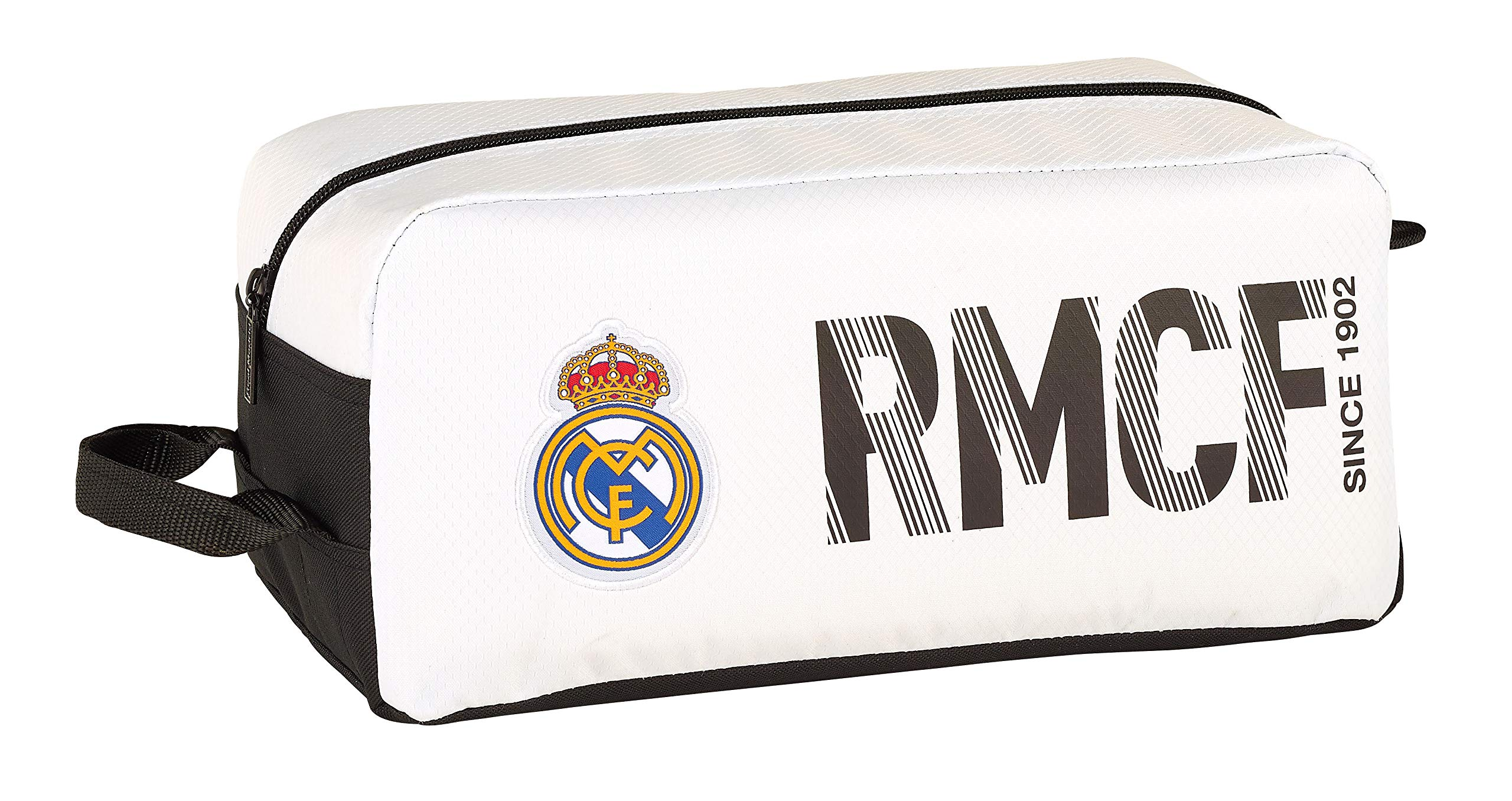 Real Madrid 811854440 2018 Bolsa para Zapatos 34 cm, Blanco