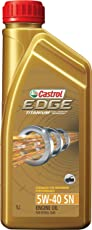 Castrol EDGE 5W-40 API SN Fully Synthetic Engine Oil for Petrol and Diesel Cars(1 L)