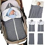 Collager Unisex Baby Kinderwagen Wrap Knit Sweater Decke Neugeborenes Baby Soft Thick Fleece Swaddle Decken f/ür M/ädchen Jungen