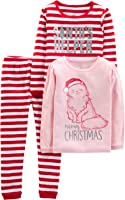 Simple Joys by Carter's 3-Piece Snug-Fit Cotton Christmas Pajama Set Bambina