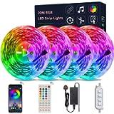 LED Strip Lights with Remote, LATKRUU Bluetooth APP Control Led Lights LED Tape Lights with 44-Keys Remote Music Sync…