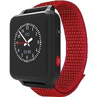 ANIO 5 (rot) - Telefon Uhr für Kinder - Anrufe, Nachrichten, Schulmodus, SOS Funktion, GPS, Schrittzähler, Wetter…