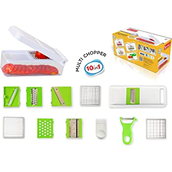 Nestwell Vegetable And Fruit Chopper With Multi Blades (10 In 1) - Dice, Slice And Chop