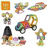 eLander Magnetische Bausteine Kinder 101tlg Magnetspielzeug, 3D Pädagogische Spielzeug, Geburtstag Kindertag Geschenk für Kin