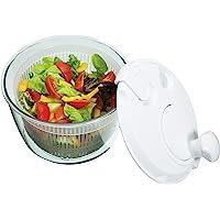 KitchenCraft KCSPINNERSML Mini Essoreuse à Salade, Mixture of Several Materials, Blanc et Transparent, 9 x 12 x 16 cm