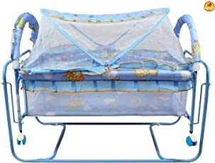 GoodLuck Baybee New Born Baby Comfortable Swing Cradle for Kids | Suitable for Boys & Girls - (Blue)