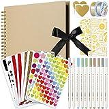 MojiDecor Album Photo Scrapbooking 80 Pages DIY Album Papier Craft, 29 cm L x 21.5 cm L mémoire Livre d'or de Mariage, Annive