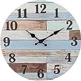 ساعة حائط خشبية تعمل بالبطارية بتصميم فينتاج ريفي من ستونبريار، لتزيين الحائط بالمطبخ او غرفة المعيشة او غرفة النوم او المكتب