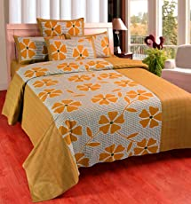 Zesture Bring home 100 % cotton double Bedsheet with 2 pillow covers