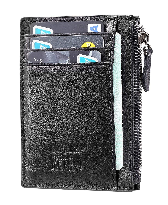 flintronic Portia Carte di Credito e Tasche Pelle, RFID/NFC Blocco Portafoglo, (1 Scomparto Con Cerniera, 6 Slot Per… 15 spesavip