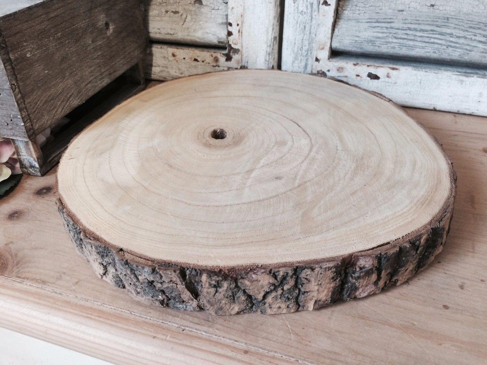 Ampliación de madera natural de la rebanada registro de la corteza de árbol de bodas Centro de mesa soporte de la torta…