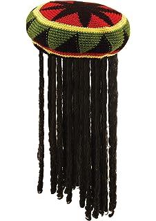 Bob Marley Reggae Jamaican Rasta String Vest Hat Dreadlock Wig /& Fake Spliff