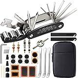 EXTSUD Bike Tool Kit, Puncture Repair Kit, Bike Multi Tool, Mountain Bike Accessories, Cycling Gifts, 16 in 1 Bike Multifunct