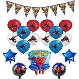 smileh Décoration Anniversaire Spiderman Ballons Spider Man Bannière Hélium Feuille Ballons Spiderman pour Enfants Décoration