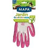 MAPA - Jardin Quotidien Colors - Gants de Jardinage Enduction Latex et Textile Bambou - Souples et Absorbants - 1 Paire - Col