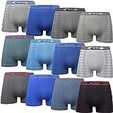 DOUBLE M, Calzoncillos Boxer o Slip Sin Costura Lycra, Bóxers Felxibles, Transpirables, Suaves y Cómodos Ideales para Deporte