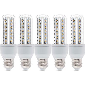 5 x LED lámpara Aigo Star Corn E27 9 W Blanco Cálido 3000 K 720lumen 320