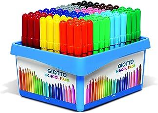 Giotto 524000, pennarelli Turbo Maxi, scatola da 108 pennarelli con colori assortiti, per scuole
