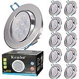 Spots Encastrables LED Orientable Rond Kambo LED 7W Plafonnier Lampe Encastré Blanc Froid 6000K 630LM Plafond Ø85-90mm IP23 2