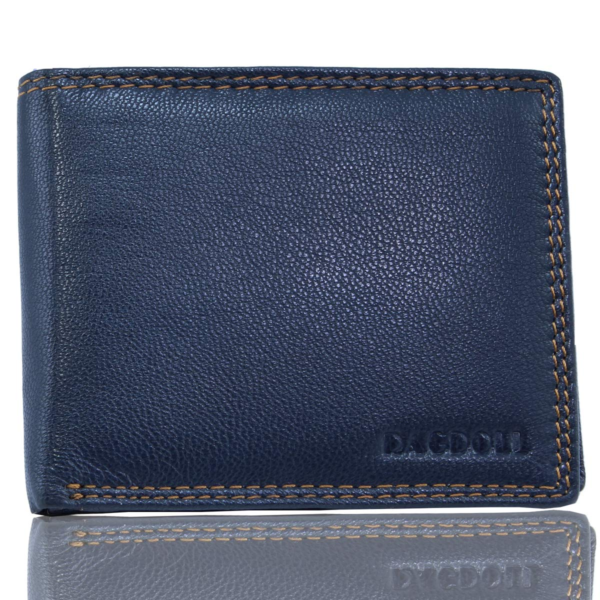 Ragdoll Men's Leather Wallet (Teal Blue Edition)