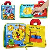 Richgv Libro Tela, Libro Soft bebés, Libros Actividades 3D para Infantes, Juguetes sensoriales interactivos para niños para A