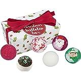 Bomb Cosmetics Christmas Handmade Bath Coffret Cadeau Ballotin Enveloppé de Melts, Contient 6 Pièces de 30 g Chacune [Contenu