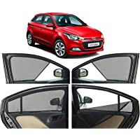 Autofact Half Magnetic Window Sunshades/Curtains for Hyundai Elite I20 [Set of 4pc - Front 2pc Half Without Zipper…