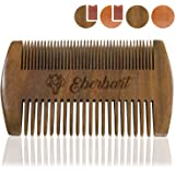 Eberbart Peigne à barbe en bois antistatique - Peigne de poche pour moustache pour une barbe naturellement bien entretenue (Bois de santal)