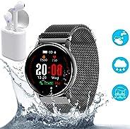 Smartwatch, 1.3 Grande Fitness Tracker Orologio Intelligente Pressione Sanguigna Cardiofrequenzimetro Touch Impermeabile IP6