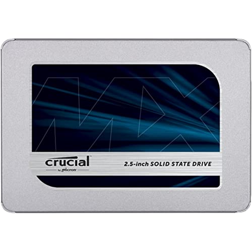 Crucial MX500 500GB CT500MX500SSD1(Z) SSD Interno-fino a 560 MB/s, 3D NAND, SATA, 2.5 Pollici, Metallico