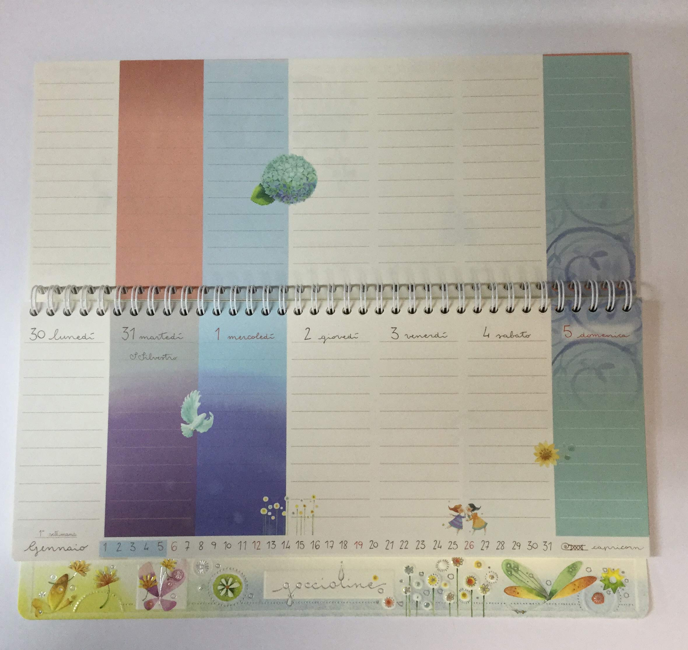 Goccioline Calendario.Calendario Tavolo Goccioline 2020 14x32 Cm