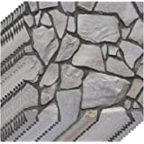 3 Dimension Black Brick Water-resistant Moistureproof Removable Self Adhesive Wallpaper Peel & Stick PVC Wall Stickers for Li