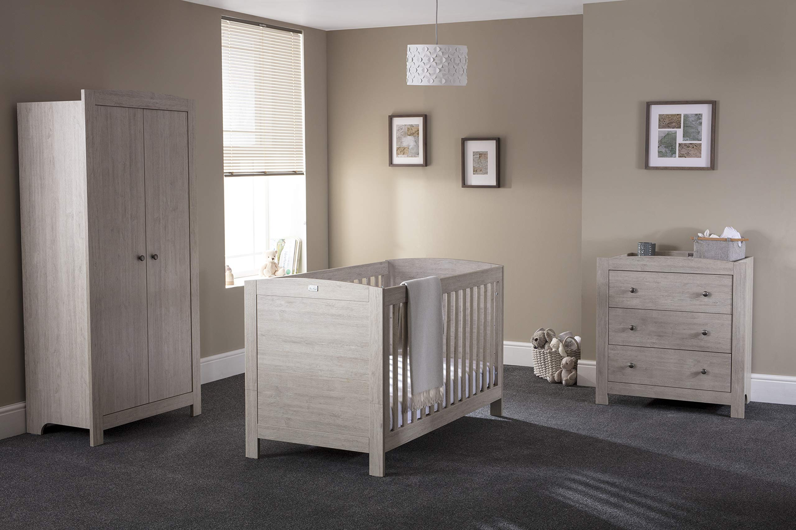 Silver Cross New England Cot Bed and Wardrobe Silver Cross 3 base height positions Suitable from birth to 4 years Converts into toddler bed 5