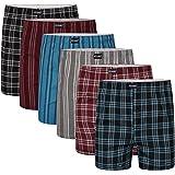 Keanu Mens 6 Pack Polycotton Woven Boxer Shorts