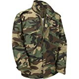 M65 Military Field Jacket With Removable Quilted Inner Liner-Woodland Camouflage