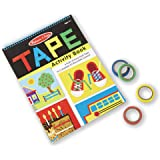 Melissa & Doug Tape Activity Book (Early Learning Skill Builder, 4 Rolls of Easy-Tear Tape, Sturdy Plastic Binding, 20…