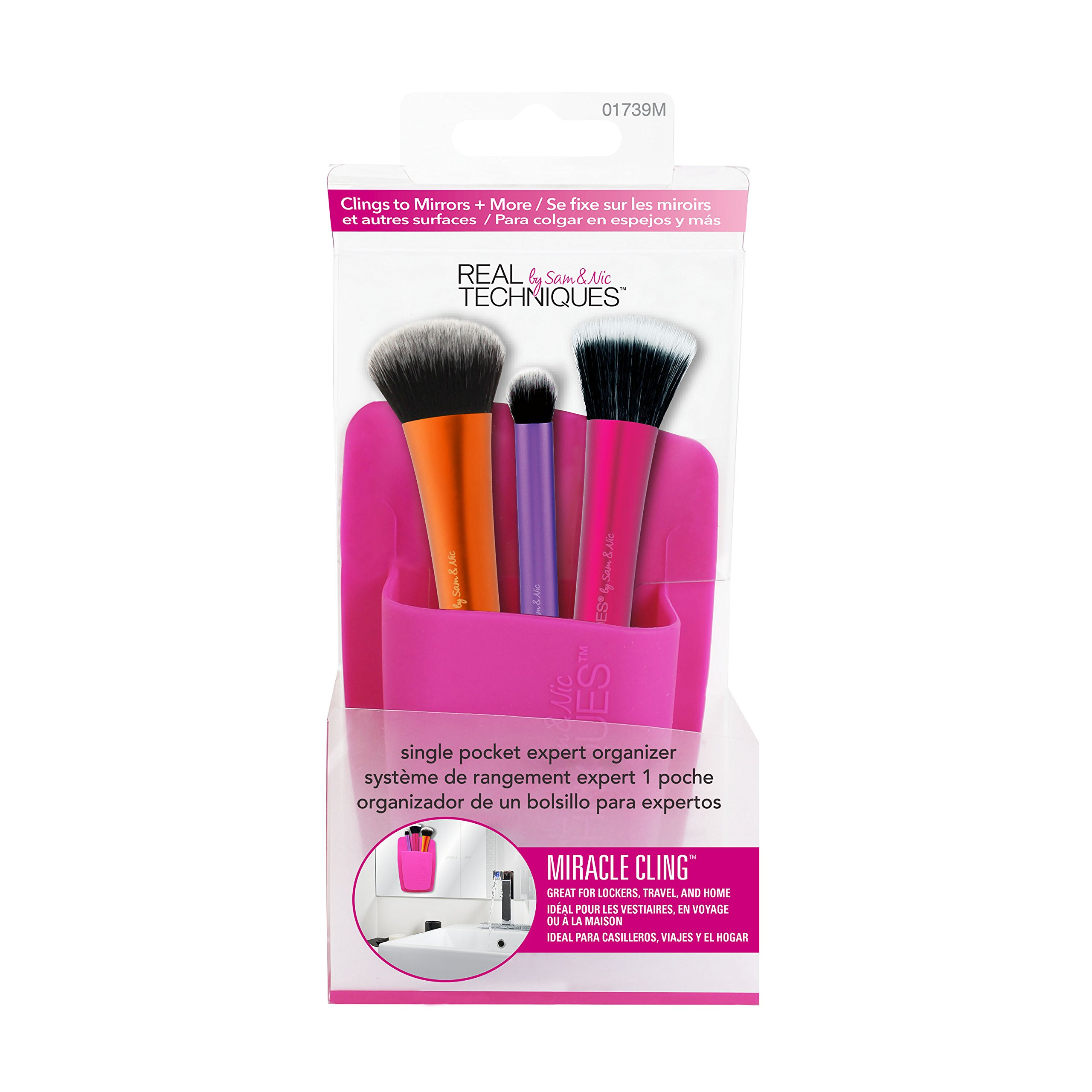 Real Techniques Single pocket expert organizer-pink – soporte para brochas rosa 150 g