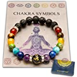 Dubbele chakra armband ter verlichting van angst met sieradenzakje en betekeniskaart