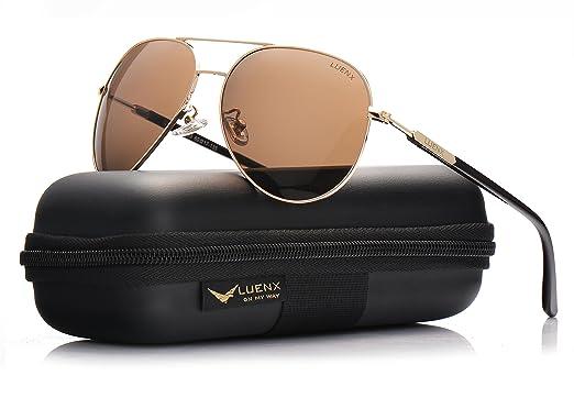0efe6cf577 LUENX Mens Womens Aviator Sunglasses ... on Supaprice