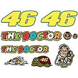KIT Adesivi Stickers VALENTINO ROSSI THE DOCTOR 46 LOGO pannello intero 11pz OFFERTA motorino MOTO casco MOTOCICLETTA …