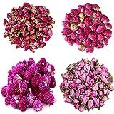 TooGet Fiori Naturali Essiccati Include Fiori di Rosa Rossa, Palla di peonia, Gomphrena globosa, Fiori di pesco, Kit di Fiori