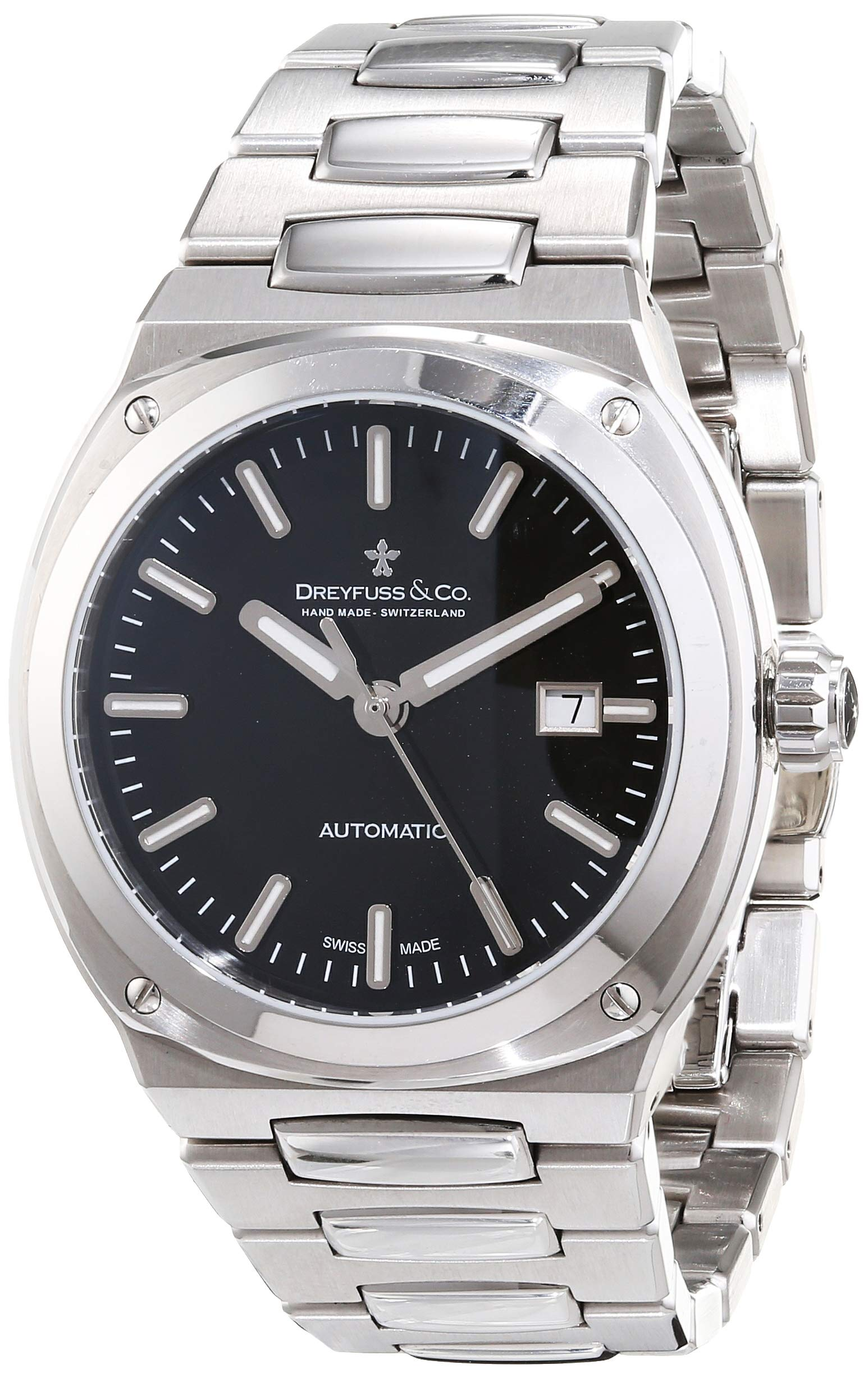 Dreyfuss Mens Analogue Classic Automatic Watch with Stainless Steel Strap DGB00154/04