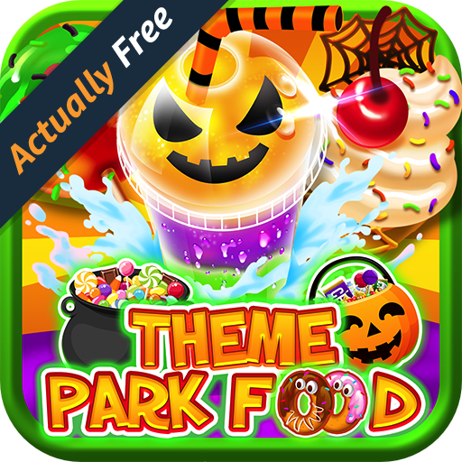 Halloween Theme Park Fair Food Maker FREE GAME - Make Dessert Foods, Amusement Parks Candy Pizza, Pumpkins, Ghosts, Toy Prizes, Zombie Carnival Games in Kids Bake & Cook Chef Game for Boys & Girls