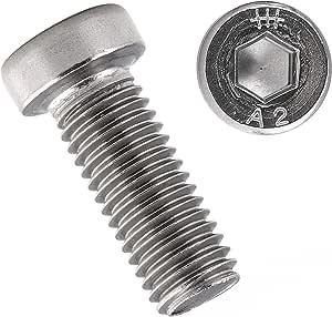 Viti a testa svasata M2 x 10 con esagono incassato TX T6 DIN 965 in acciaio inox A2 Vite Torx 10 pezzi | Viti a testa svasata filettatura completa OPIOL QUALITY